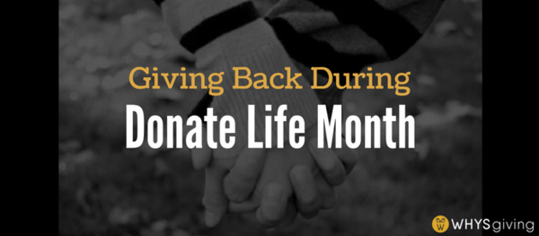 Giving Back During Donate Life Month